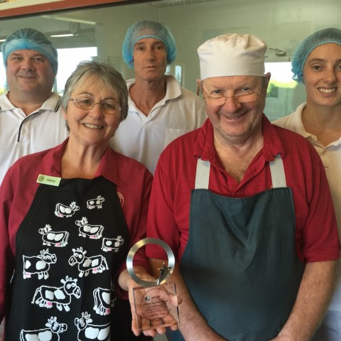 Dianne and Julian Benson and their cheesemakers